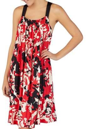 Donna Karan Printed Jersey Nightgown