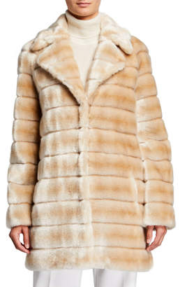 Fuzz Not Fur Oh My Deer Faux Fur Coat, Ivory