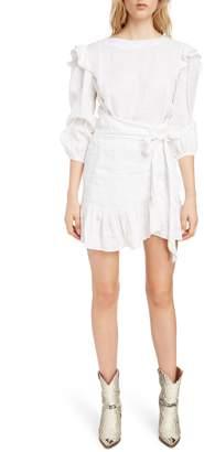 Etoile Isabel Marant Telicia Ruffle Linen Dress