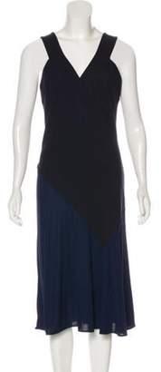 Stella McCartney Sleeveless Midi Dress Blue Sleeveless Midi Dress