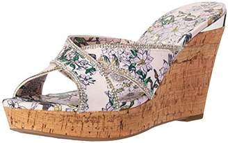GUESS Women's ELEONORA4 Wedge Sandal