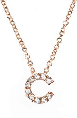 Bony Levy 18k Gold Pave Diamond Initial Pendant Necklace
