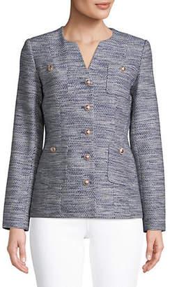Karl Lagerfeld PARIS Tweed Novelty Jacket