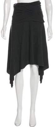 Hussein Chalayan Wool Asymmetrical Midi Skirt