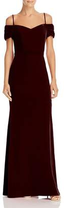 Laundry by Shelli Segal Off-the-Shoulder Velvet Gown - 100% Exclusive