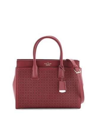 Kate Spade New York Cameron Street Candace Laser-Cut Satchel Bag, Merlot $398 thestylecure.com