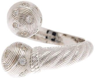 Judith Ripka Sterling Silver CZ Rope Ring