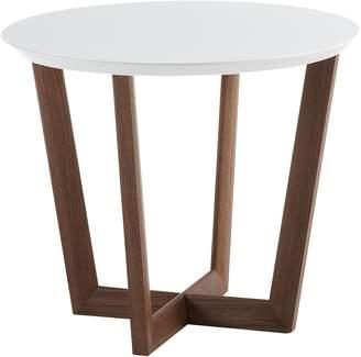 Co Vida & Coffee Tables Geraldo Side Table, Walnut, White
