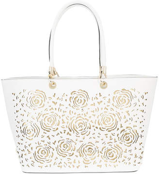 Christian Siriano embossed tote bag