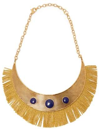 Aurelie Bidermann Azzura Lapis Stone Fringe Necklace - Womens - Gold