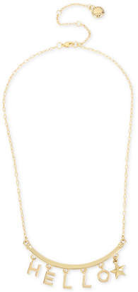 "BCBGeneration BCBG Gold-Tone Hello Collar Necklace, 16"" + 3"" extender"