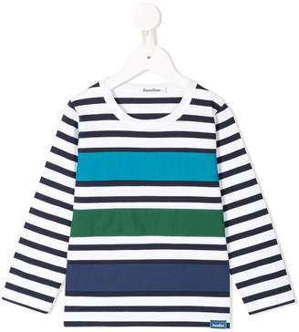 Familiar stripe detail T-shirt