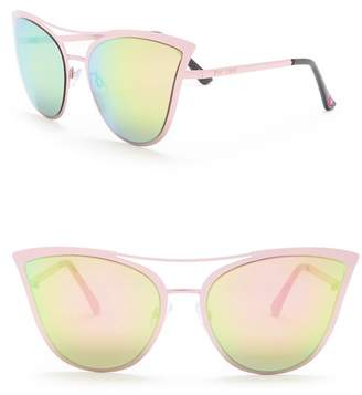 Betsey Johnson Oversized Cat Eye Sunglasses
