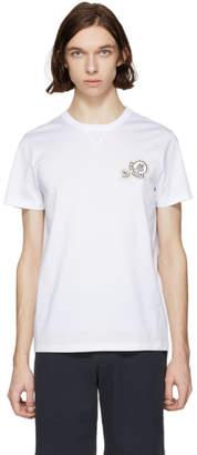 Moncler White Double Logo T-Shirt