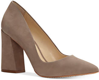 Vince Camuto Talise Pointed Block-Heel Pumps Women's Shoes