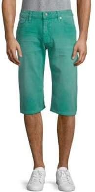 Back Stud Denim Shorts