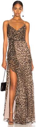 Nicholas Tie Front Maxi Dress in Leopard | FWRD