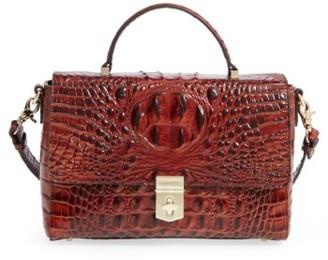 Brahmin Danielle Leather Top Handle Satchel - Brown $265 thestylecure.com