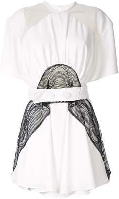 CHRISTOPHER ESBER lace panel mini dress