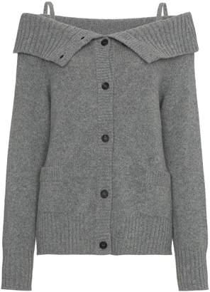 Prada Cashmere off shoulder cardigan