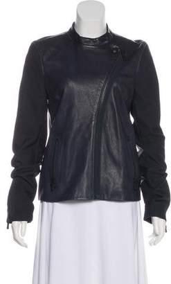 J Brand Lamb Leather Biker Jacket