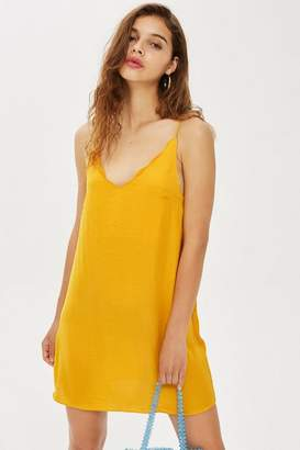 Topshop Scallop Mini Slip Dress