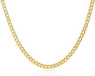 Men's Men's 3.3MM Cuban Curb Link Chain Necklace in 14K Solid - 18""