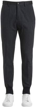 G・T・A Denim Effect Cotton Blend Jersey Pants