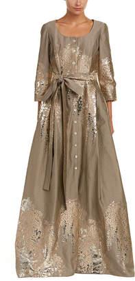 Carolina Herrera Wool & Silk-Blend Gown