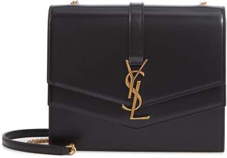 Saint Laurent Sulpice Leather Shoulder Bag