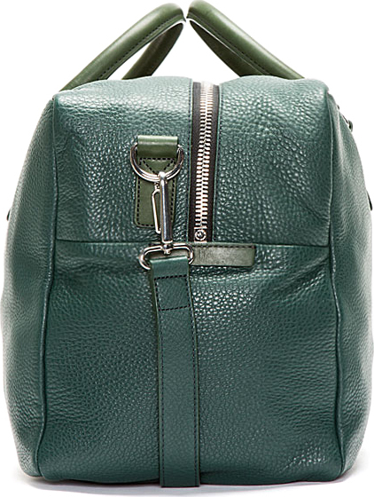 Marc by Marc Jacobs Forest Green Pebbled Leather Weekender Duffle