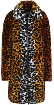 Love Moschino Leopard-Print Faux Fur Coat