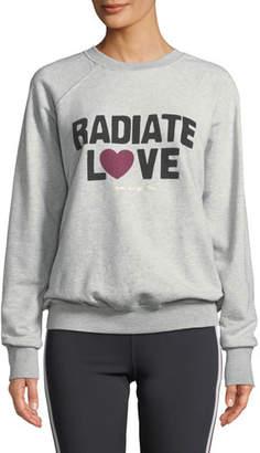 Spiritual Gangster Radiate Love Graphic Crewneck Sweater
