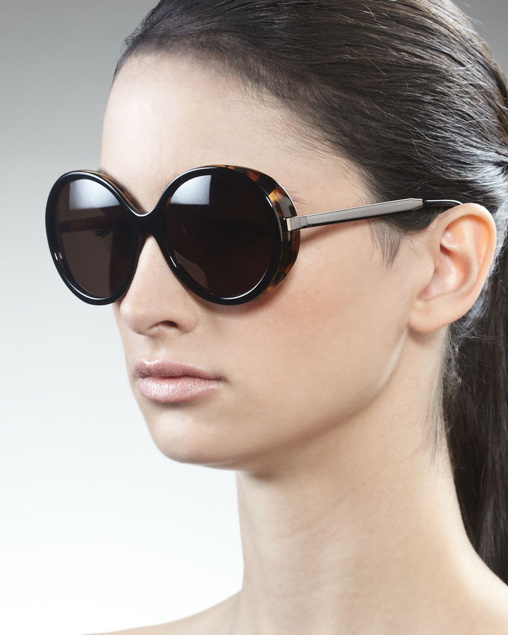 Carolina Herrera Round Havana Sunglasses
