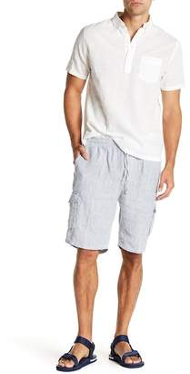 Onia Tom Striped Linen Cargo Shorts