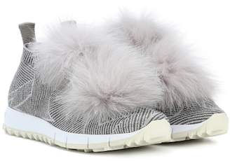 Jimmy Choo Norway fur-trimmed sneakers
