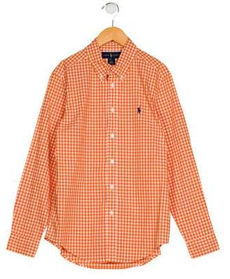 Ralph Lauren Boys' Gingham Collar Shirt