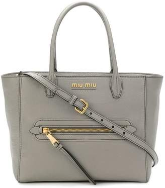 Miu Miu striped strap tote