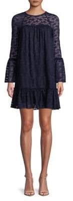 MICHAEL Michael Kors Ruffled Lace Shift Dress
