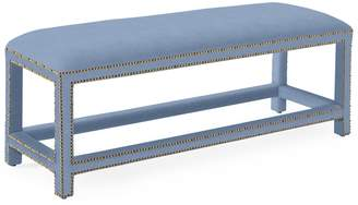 Serena & Lily Dorset Bench with Nailheads