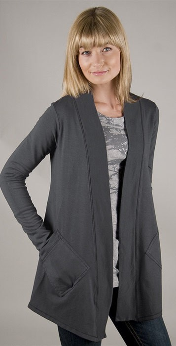 Splendid 2 Pocket Cardigan in Coal