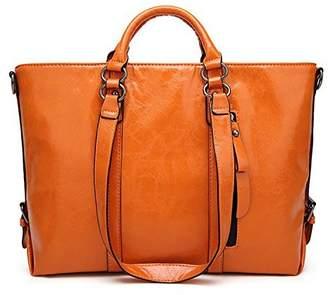 ELIM&PAUL Women's Vintage Handbag PU Leather Shoulder Bag Tote Bags Satchel Large Cross Body Purse