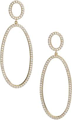 Nordstrom Pave Circle & Oval Drop Earrings