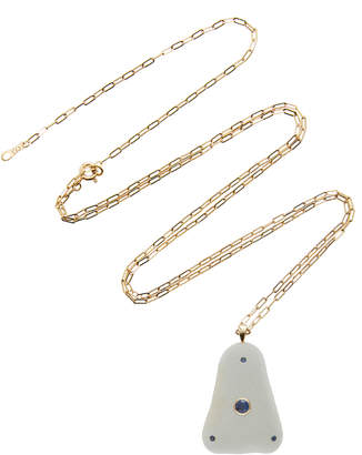 Cvc Stones Atlantic 18K Gold Beach Stone and Sapphire Necklace