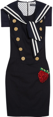 Dolce & Gabbana - Embellished Stretch Cotton-blend Gabardine Mini Dress - Navy $2,895 thestylecure.com