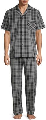 STAFFORD Stafford Mens Pant Pajama Set 2-pc. Short Sleeve