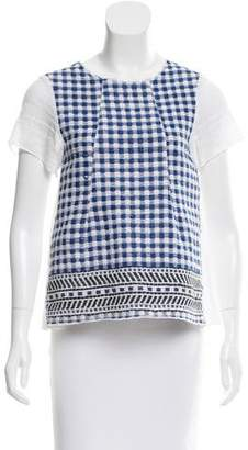 Hache Short Sleeve Patterned Top