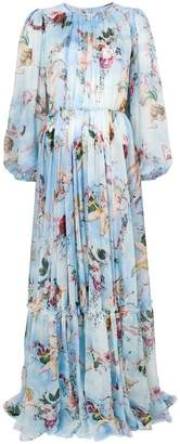 Dolce & Gabbana Cupid print maxi dress