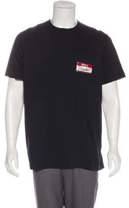 DSQUARED2 Name Tag Motif T-Shirt