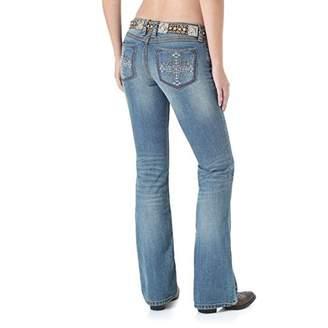 Wrangler Women's Rock 47 Sits At Hip Embroidered Cross Back Pocket Jean